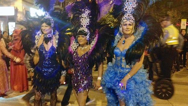 The heels, and colors, were in abundance for the 27th annual running of the High Heel Race on 17th Street NW on Tuesday night.
