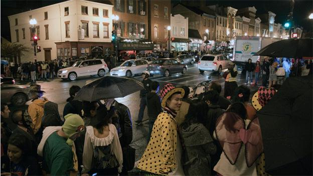 Rain or shine, Georgetown is always packed with Halloween revelers.