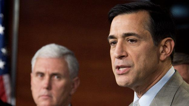 Rep. Darrell Issa (R-Calif.), at right, introduced a bill Oct. 31 that would require the D.C. government to do background checks on top-level appointees, and require other hiring standards for all city employees.