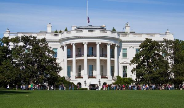 Authorities are looking for a man in connection with gunfire near the White House Friday.