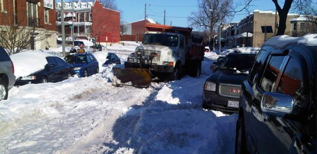 Instead of expensive tracking systems, Montgomery County plows may be guided by TomTom GPS units.