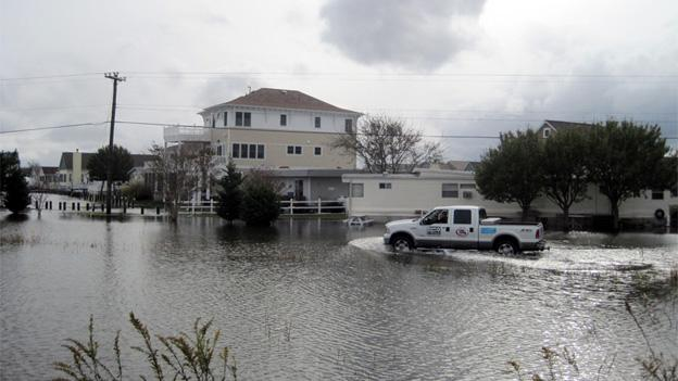The flood waters in Ocean City have mostly receded, but the psychological damage inflicted by Sandy haven't.