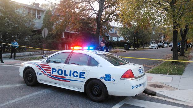 A man has been fatally shot, after stabbing a D.C. police officer in Northeast.