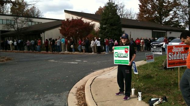 Early voters at a polling location in Columbia, Md. on Oct. 27, 2012.