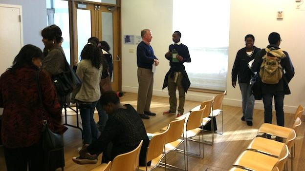 At a career fair in Silver Spring, students received advice on how to stand out in this tough economy.