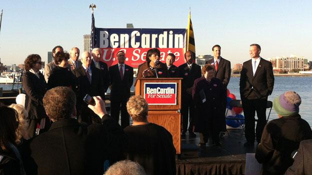 Democratic elected officials from around Maryland gathered Nov. 6 to help Sen. Ben Cardin (D-Md.) announce his reelection campaign for the 2012 election.