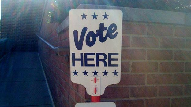 Virginia residents head out to vote in the presidential primary today, although they'll only be choosing between two of the four candidates still in the running.
