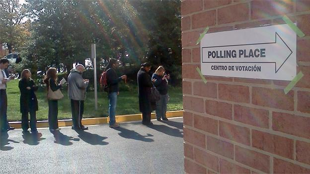 The wait to cast a ballot in one Arlington, Va. location was as long as four hours — other areas had even longer waits.