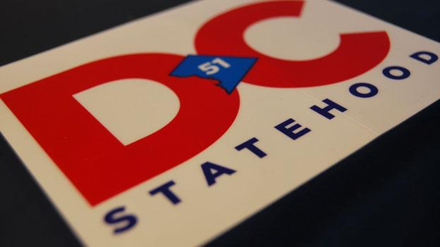 D.C. is taking its statehood campaign nationwide, by appealing to legislators in other states to pass resolutions of support. This sticker advocating for D.C. 51 -- D.C. as the 51st state -- is part of the campaign.