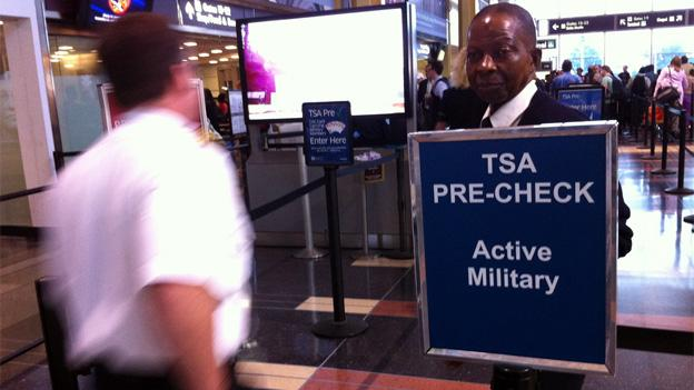 Participants in the TSA PreCheck program get through screening more quickly and are afforded the ability to keep on their shoes.