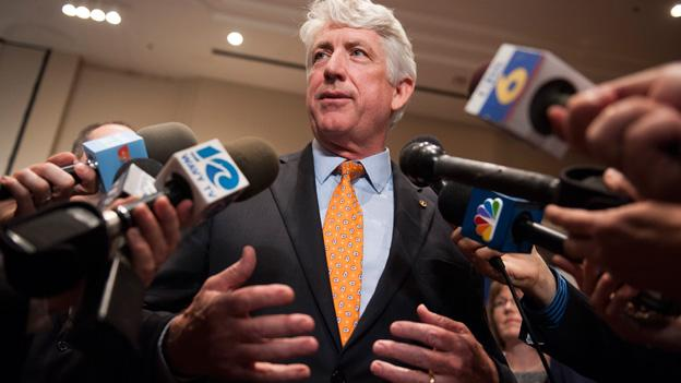 Democratic Va. Attorney General candidate Mark Herring currently holds a razor-thin lead.