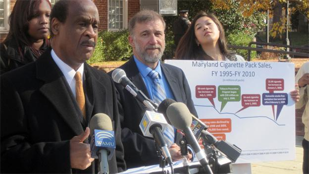 Montgomery County executive Isiah Leggett voiced his support Wednesday for a plan to raise the cigarette tax in Maryland.