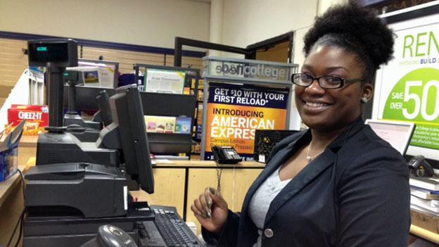Darelle Doleman, a junior at Trinity Washington University in northeast D.C. who works at the campus store part time, was shocked when her aunt told her she could no longer come home during college breaks. She plans to move into a youth hostel in December.