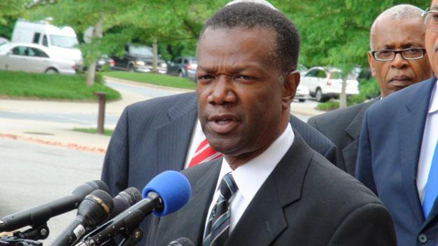 Former Prince George's County Executive Jack Johnson after he pleaded guilty to federal corruption charges in May.