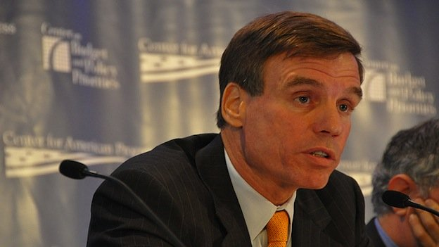 Sen. Mark Warner (D-Va.) got some help from across the aisle.