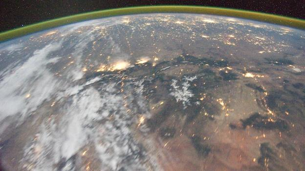 This image provided by NASA shows a night time image photographed by the Expedition 29 crew from the International Space Station.
