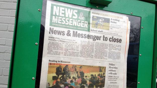 The News & Messenger newspaper will publish its last issue in December.