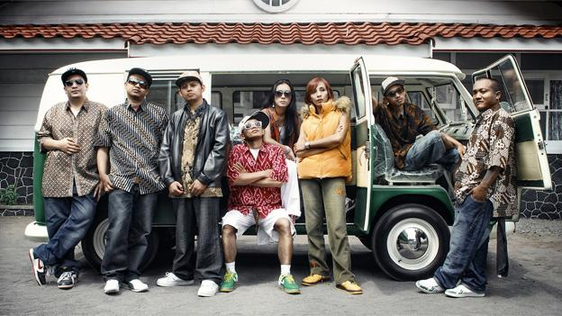 The Jogja Hip Hop Foundation crew.