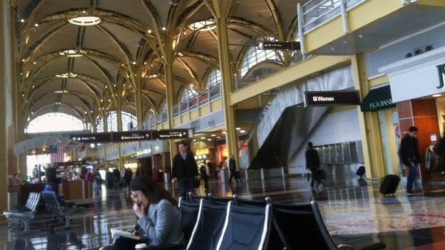 Travelers out of Washington National Airport may hit delays this weekend, but they likely won't be from precipitation in D.C.