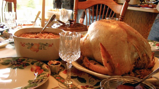 The modern American Thanksgiving turkey probably wasn't on pilgrims' plates centuries ago.