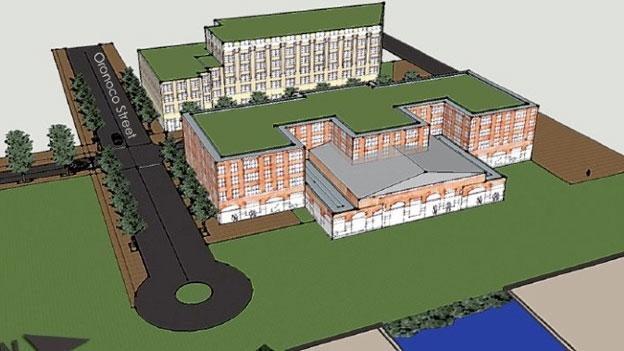 A rendering of part of the Alexandria City Council's waterfront redevelopment plan.