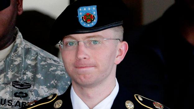 A military judge acquitted Army Pfc. Bradley Manning of the aiding the enemy charge.