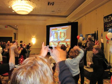 Republican supporters celebrate another GOP election victory.