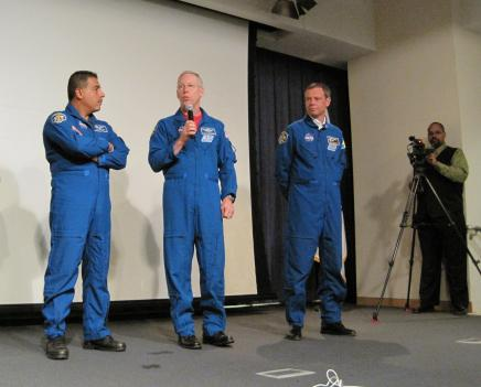 NASA astronauts speak to a group of D.C. and Maryland students.