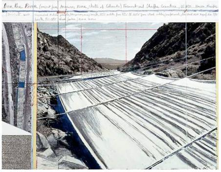 Christo's plans to alter the Arkansas River are showing at the National Gallery of Art.