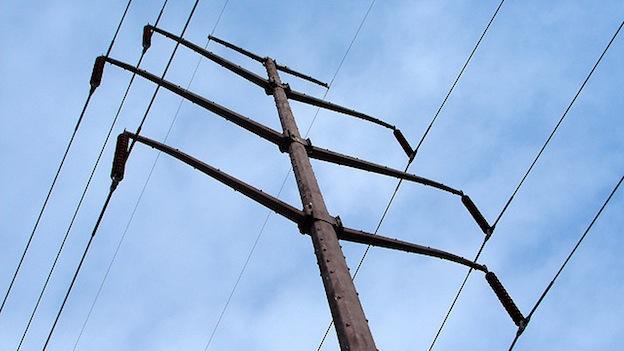 Power lines in Hillmeade, Md.