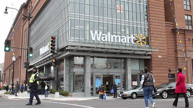 One of the new Walmart stores at H Street and First Street NW.