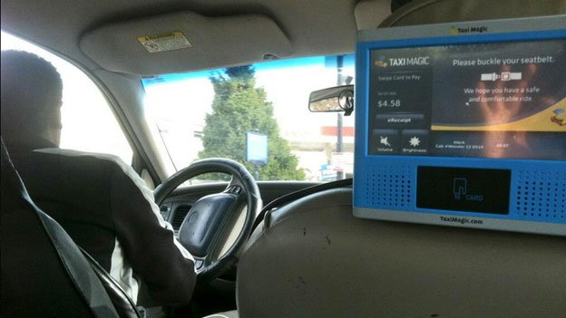 A driver with a Taxi Magic card reader asked if he could run a credit card through Square.