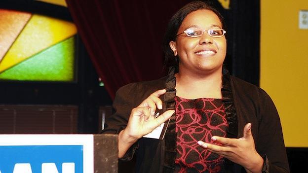 Virginia Del. Charniele Herring at Rep. Jim Moran's 'Meet and Greet' in 2010.