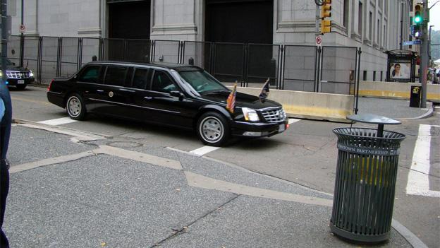 "The DC Vote petition calls for the Presidential Limousine to carry a District ""No Taxation Without Representation"" license plate."