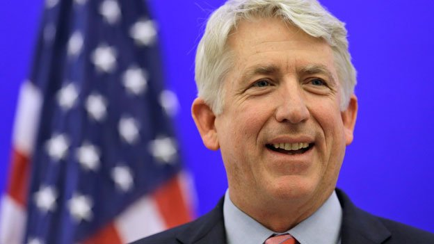 Virginia Attorney General-elect Mark Herring smiles during a news conference at the Capitol in Richmond, Va., Wednesday, Dec. 18, 2013, after his Republican rival and fellow state Sen. Mark Obenshain conceded after a recount of the Nov. 5 election put victory beyond his reach.