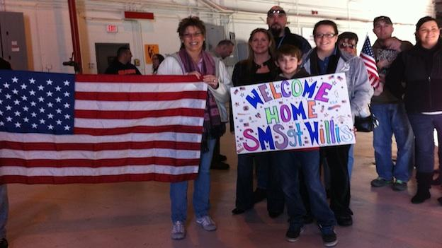Families are awaiting the troops' arrival from Afghanistan.