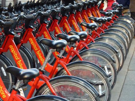 The iconic racks of Capital Bikeshare bikes may soon become a more common sight in certain areas of Montgomery County.