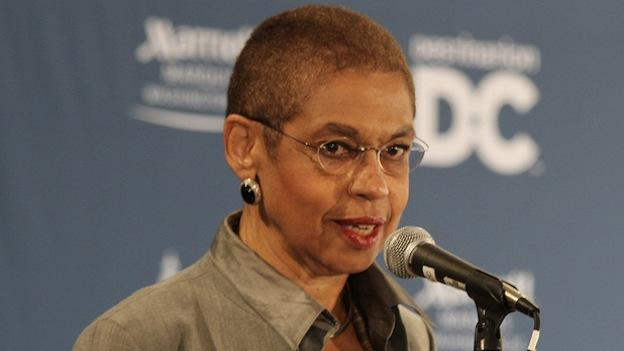 Rep. Eleanor Holmes Norton (D-DC) at the ground-breaking ceremony for the Washington Marriott Marquis hotel in 2010.