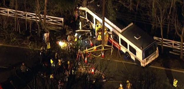 A Metrobus was involved in a deadly multi-car accident on Rockville Pike Wednesday.