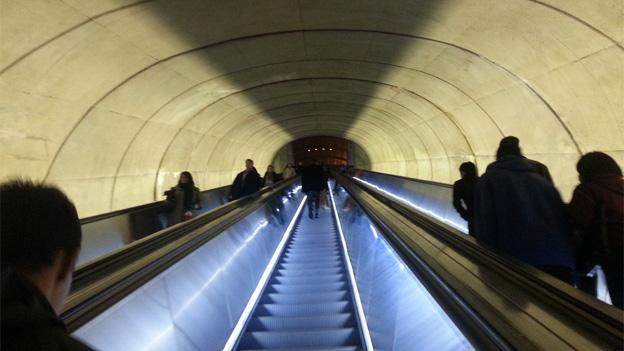 The suspect fled to the Dupont Circle Metro, where police were able to catch up with him.