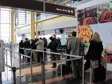 Lines are short at Reagan National Airport, but come Thanksgiving next week, they're expected to swell. AAA Mid-Atlantic predicts travel in airports and roads in the D.C. region will be higher than in other parts of the country.