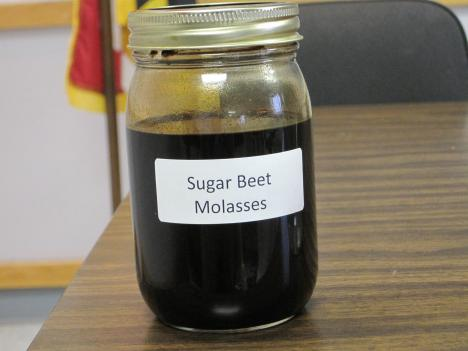 Sugar beet molasses mixed with the salt brine is commonly used on roadways during winter months.
