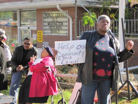 Neighborhood activist Karlene Armstead is opposed to the construction of a new Washington Highlands Library in Ward 8.