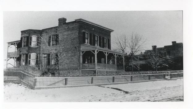 The Schneider-Dulin Houses, circa 1900. This house is located off 37th Street where today there is an apartment building.