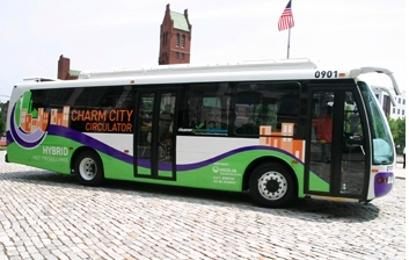 Fast, frequent and free, the promise of new hybrid buses coming to downtown Baltimore.