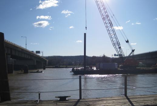 Work begins on the new 11th Street Bridge over the Anacostia River. The new bridge is expected to cost $300 million and be completed by the summer of 2013.