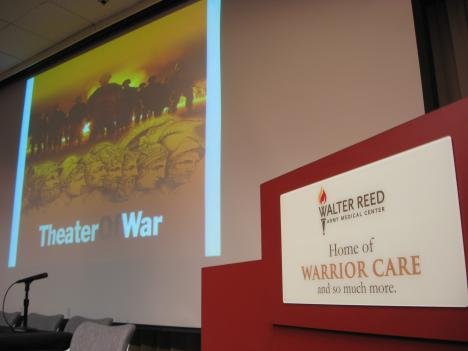The scene is set at Walter Reed in Northwest DC.