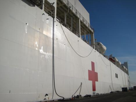 The Navy hopes the USNS Comfort will arrive by January 22.