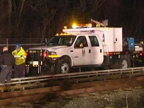 The scene of the latest Metro accident.
