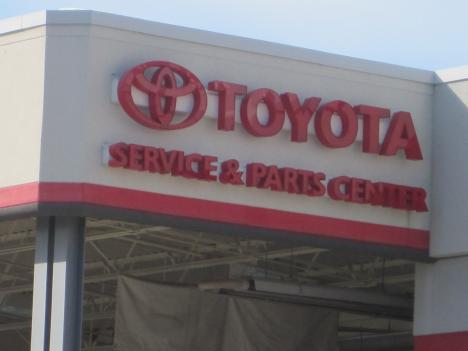 Dealerships like this Toyota Auto Mall in Rockville, Maryland will soon begin to repair recalled vehicles.